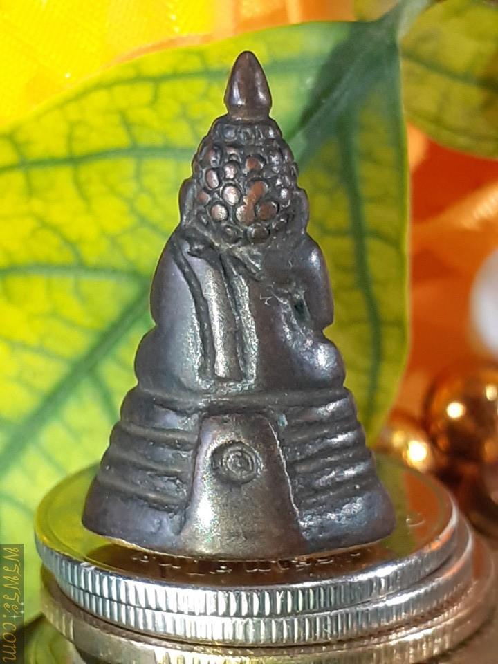 Phra Chaiwat Reign, cover plate under the gold base, Jan Yan/พระชัยวัฒน์  รัชกาล แผ่นปิดใต้ฐานทองคำ จารย์ยันต์