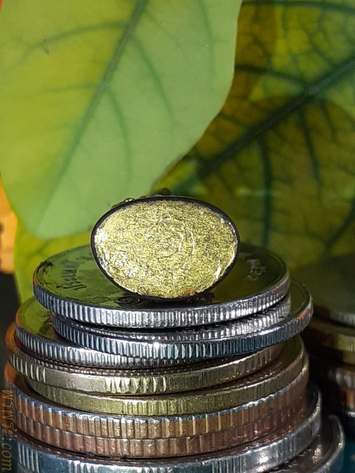 พระชัยวัฒน์  รัชกาล หมุดทอง แผ่นปิดใต้ฐานทองคำจารย์ เนื้อสัมริด/ส่ง กทม