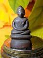 พระกริ่ง ชัยวัฒน์ รัชกาล ปางสมาธิ ปิดแผ่นทองคำ มีรอย จารย์ โค๊ตเข่าขวา กริ่งดัง พระสายวัง/ส่ง กทม
