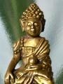 พระกริ่งจีน เนื้อสัมฤทธิ์ เปียกทอง หล่อตัน ใต้ฐานเรียบ ขนาด17×34มม