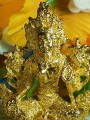 พระกริ่งอวโลกิเตศวร เนื้อสัมฤทธิ์ เปียกทองคำแท้5.61%+-au=gold กริ่งดัง ก่อนปี2500 ศิลปละเอียด คม ชัด มีมิติ ทุกซอกมุม