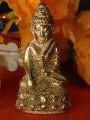 พระกริ่ง เปียกทอง หล่อเต็มองค์ พระสายวัง ก่อนปี2500เปียกทองคำแท้gold/AU1.51%+- ผงพุทธคุณ มีใบตรวจโลหะ