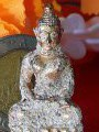 พระพุทธปางสมาธิ เปียกทอง ก่อนปี2500เปียกทองคำแท้gold/AU3.76%+- ผงพุทธคุณ พระสายวัง