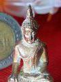 พระพุทธ ปางมารวิชัย หล่อตัน เปียกทองคำแท้gold/AU3.87%+- ผงพุทธคุณ พระสายวัง ก่อนปี2500