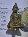 พระยอดธง เนื้อสำริด เปียกทองคำแท้gold/AU1.93%+-/Phra Yodthong amulet, bronze, wet with real gold, gold/AU1.93%+-