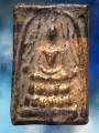 พระสมเด็จ แหวกม่าน เนื้อตะกั่ว ถ้ำชา ปิดทองเก่า ๒๔๐๘