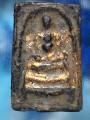 พระสมเด็จ พิมพ์พุฒซ้อน เนื้อ ตะกั่วถ้ำชา ปิดทองเก่า ปี๒๔๐๘ หล่อโบราณ ตัดแกนฉนวน ใต้ฐาน