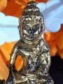 Phra Kring Chao Fah Rama IV, 1851 B.E., bronze, black reversed, wet real gold, gold/AU1.74%+- ringing bell/with metal certificateพระกริ่งเจ้าฟ้า ร.๔ พ.ศ.๒๓๙๔ เนื้อสัมฤทธิ์ กลับดำ เปียกทองคำแท้gold/AU1.74%+- กริ่งดัง/พร้อมใบตรวจโลหะ